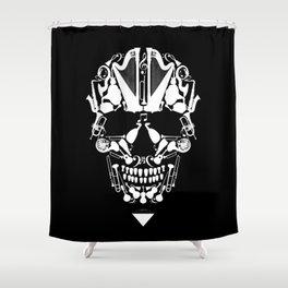 MUSICAL SKULL Shower Curtain
