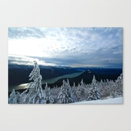 Winters in the Gorge Canvas Print