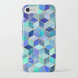 Blue Cubes iPhone Case