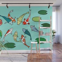 Koi Fish Meeting Wall Mural
