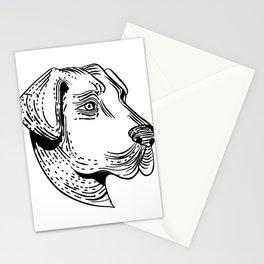 Anatolian Shepherd Dog Etching Black and White Stationery Cards