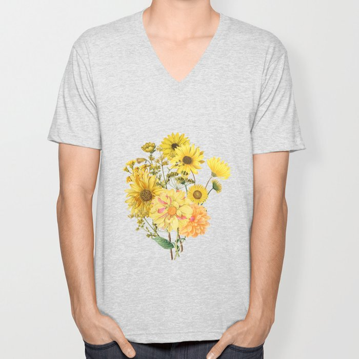 Vintage & Shabby Chic - Late Summer Flowers Unisex V-Neck