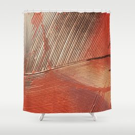 Gemstone #3: a textured, abstract piece with a hint of gold by Alyssa Hamilton Art Shower Curtain