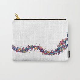 Playful Peacock Carry-All Pouch