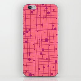 Woven Web pink iPhone Skin