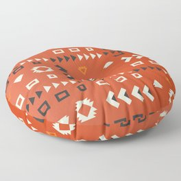 American native shapes in red Floor Pillow