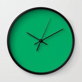 GO Green - solid color Wall Clock