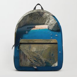 Landscape of the Mediterranean Sea Backpack