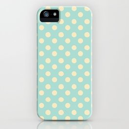 Dotted - Soft Blue iPhone Case