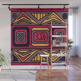 Ethnic background folk african pattern Wall Mural