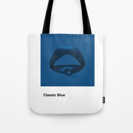 Classic Blue Paint Swatch Tote Bag