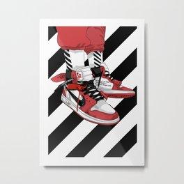 Jordan I Off White Art Metal Print