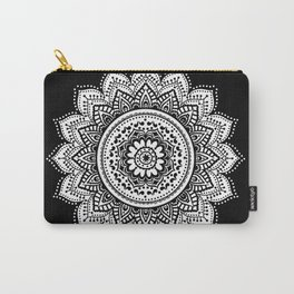 black and white mandala Carry-All Pouch
