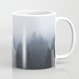 Mysterious forest in the fog Coffee Mug