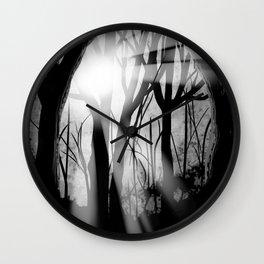 """""""Forest Light""""   Digital Art Wall Clock"""