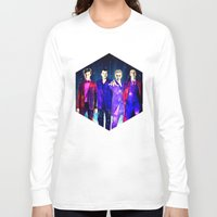 suits Long Sleeve T-shirts featuring The Doctors: Galaxy Suits by Paris Noonan