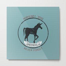 Horsebot 3000 Never Forget - Worn Metal Print