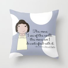 The More I See of the World Throw Pillow
