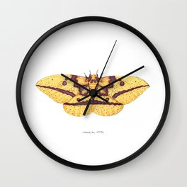 Imperial Moth (Eacles imperialis) Wall Clock