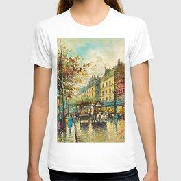 Le Moulin Cabaret Club a Montmartre, Paris by Antoine Blanchard T-shirt