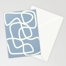 Maze in Gray Blue Stationery Cards