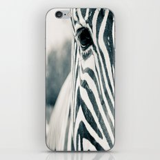 Zebra Face Black & White iPhone & iPod Skin