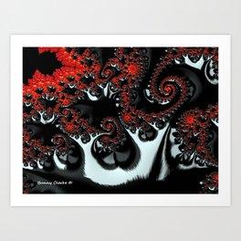 Apple Trees in the Moonlight Art Print