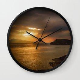 Sunset at Lismore Island Wall Clock