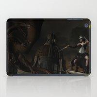 steam punk iPad Cases featuring Steam Punk - Dragon Duel by J. Ekstrom