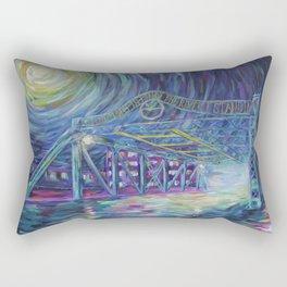Riverside Bridge Rectangular Pillow