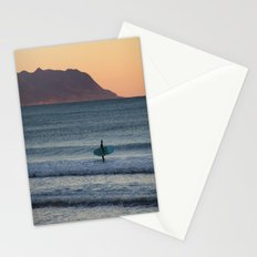Surfer at sunset Stationery Cards