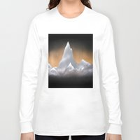 snowboarding Long Sleeve T-shirts featuring Snowy Mountains by Bruce Stanfield