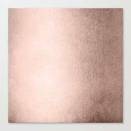 Moon Dust Rose Gold Canvas Print