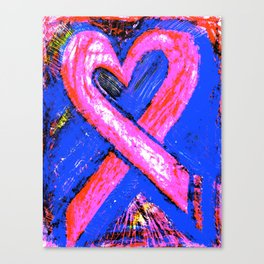 Super-Ribbon!! A Pink Ribbon for Breast Cancer Research by Jeffrey G. Rosenberg Canvas Print