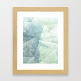 Frozen Geometry - Teal & Turquoise Framed Art Print