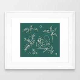 Dreamers no.1 (emerald) Framed Art Print