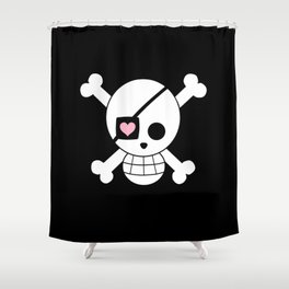 One Piece Print Shower Curtain