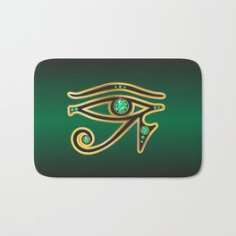 Eye of Ra Emerald Bath Mat