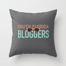 South Florida Bloggers Logo Throw Pillow