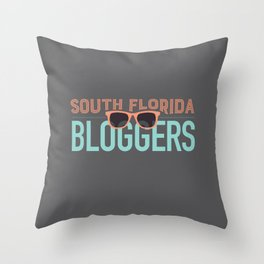 South Florida Bloggers Logo Throw Pillow