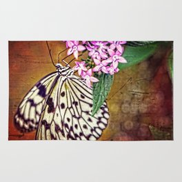 Butterfly Art - Hanging On - By Sharon Cummings Rug