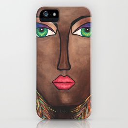 Beautiful Black Woman iPhone Case