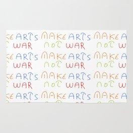 make art not war-anti-war,pacifist,pacifism,art,artist,arte,paz,humanities Rug