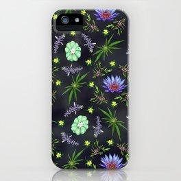 Smokeable Hallucinogenic Plants Pattern iPhone Case