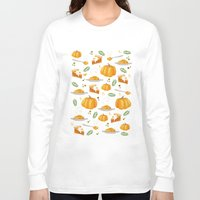 pumpkin Long Sleeve T-shirts featuring pumpkin by Ceren Aksu Dikenci