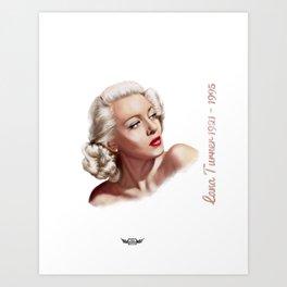 Lana Turner  Art Print