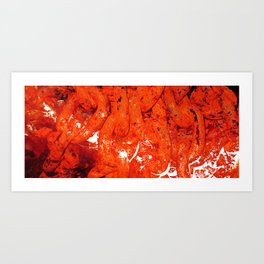 Red Abstract Art - Linked - By Sharon Cummings Art Print
