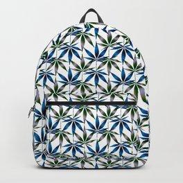 WEED LOVE, BLUE GREY GREEN Cannabis Smoke Marijuana Backpack