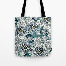 succulents blue chartreuse star Tote Bag