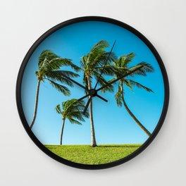 Coconut Palm Trees Wall Clock